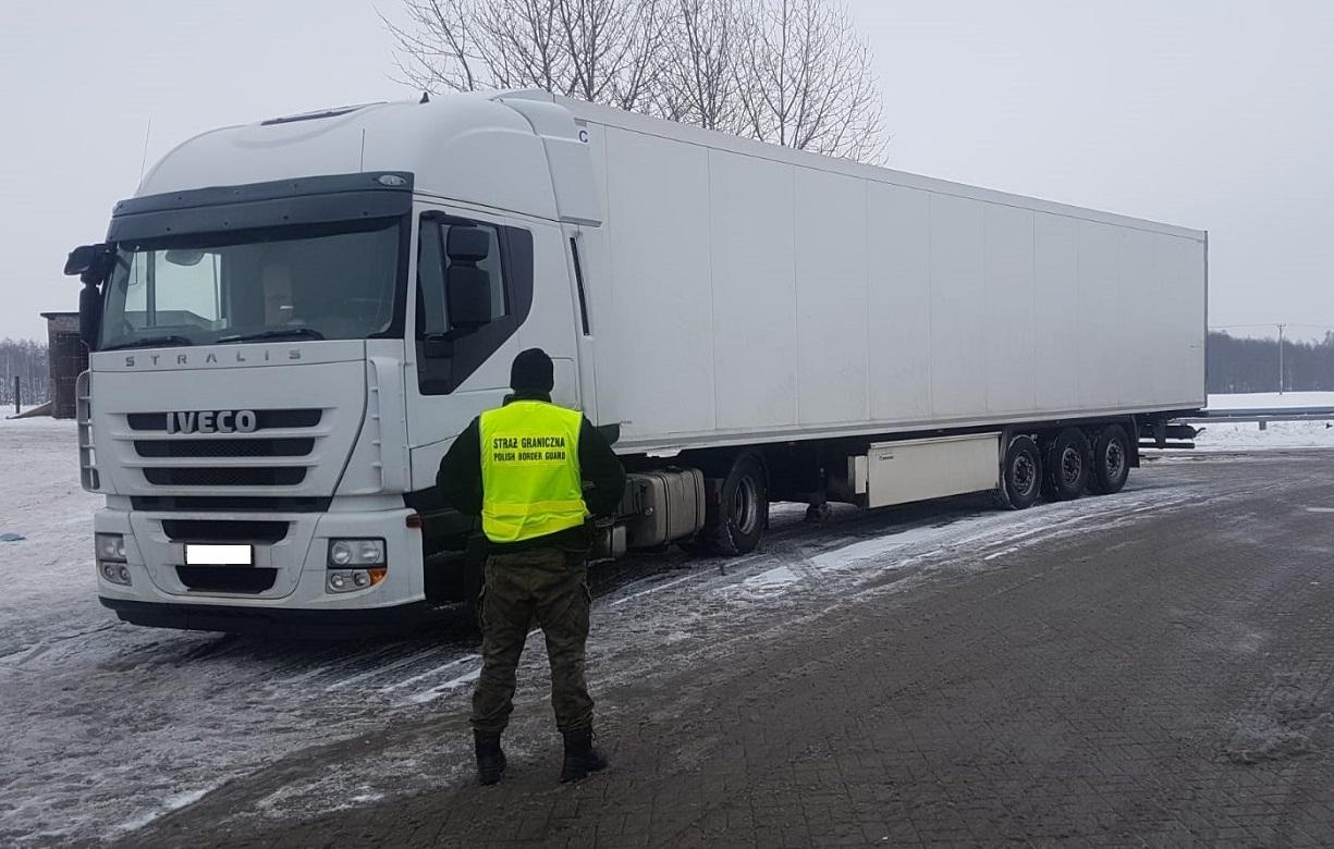 Sg W Rutce Tartak Odzyskała Ciągnik Siodłowy Z Naczepą